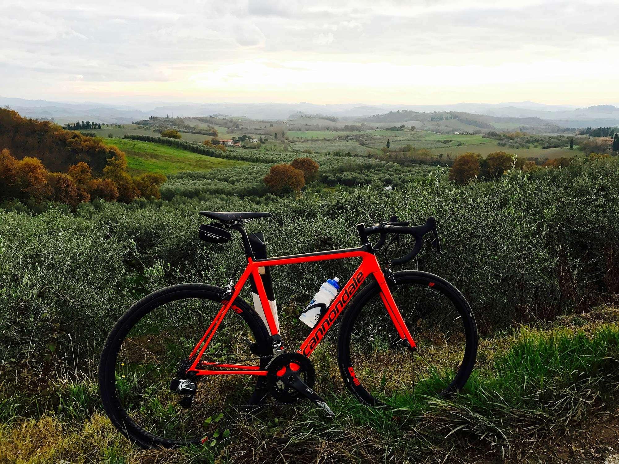 Etap test ride one day bike trip Siena Tuscany